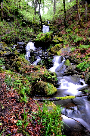 Waterfall, Hebden Water, Hardcastle Crags